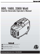 Honeywell 1600 Watt Operator's Manual