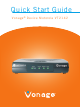 Motorola Vonage VT2142 Quick Start Manual