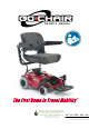 Pride Mobility Go-Chair Owner's Manual