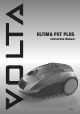 VOLTA Ultima Pet Plus U6011 Instruction Manual