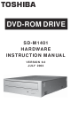Toshiba SD-M1401 Hardware Instruction Manual