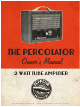 Zeppelin THE PERCOLATOR Owner's Manual