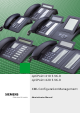Siemens optiPoint 410 S Administrator's Manual