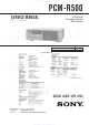 Sony PCM-R500 Service Manual