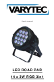 Varytec LED ROAD PAR 14 x 3W RGB 3in1 User Manual