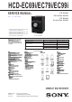 Sony HCD-EC69i Service Manual