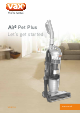 Vax Air3 Pet Plus VRS114 Let's Get Started