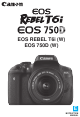 Canon EOS REBEL T6i Instruction Manual