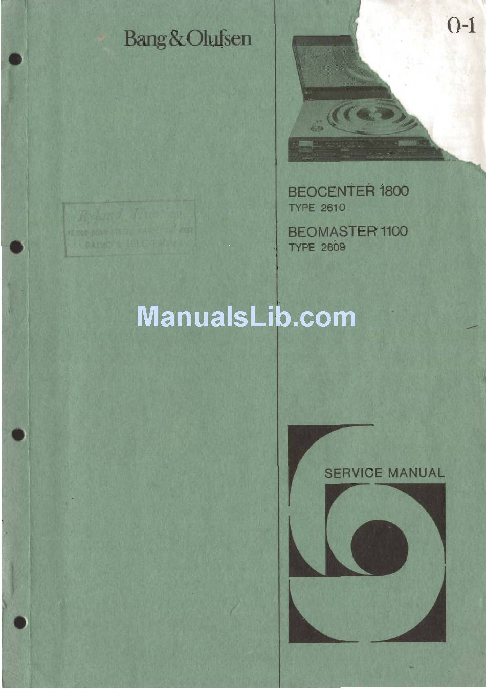 Bang  U0026 Olufsen Beocenter 1100 Service Manual Pdf Download