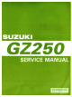 Suzuki GZ250 Service Manual