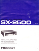 Pioneer SX-2500 Installation, Operation And Service Manual