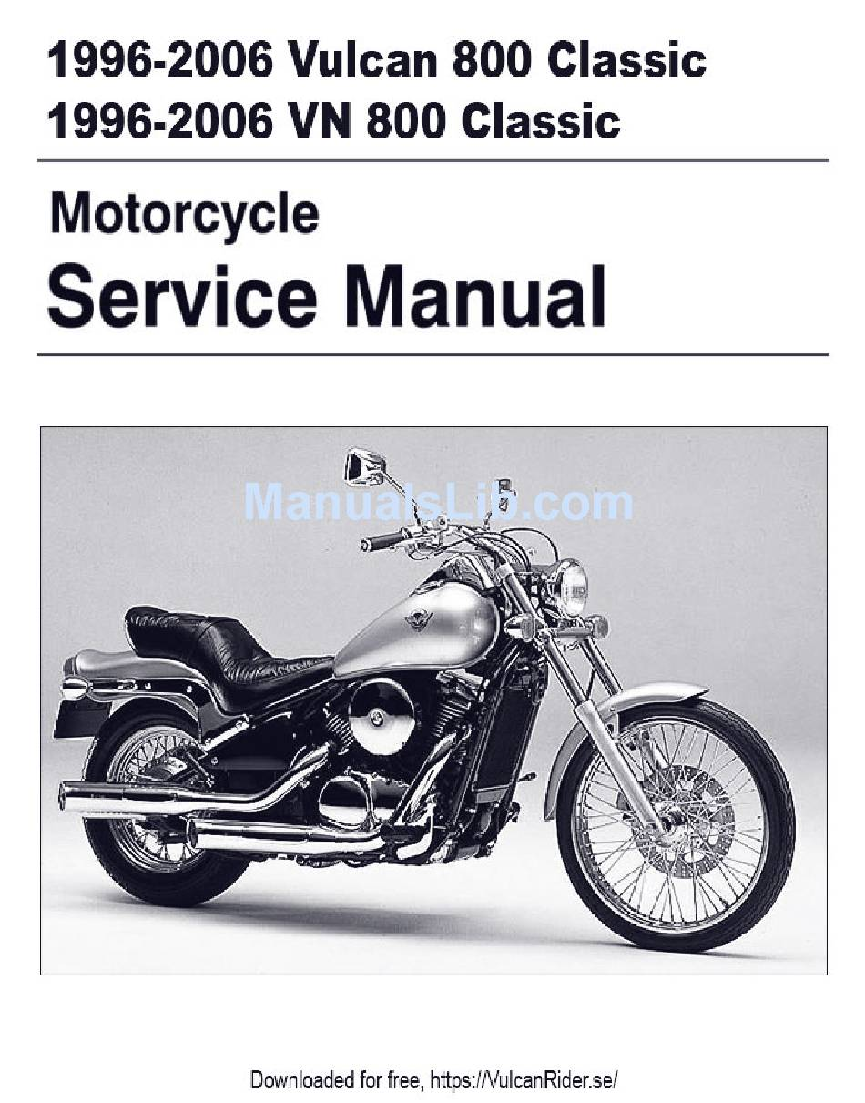 Kawasaki Vulcan 800 Classic Wiring Diagram