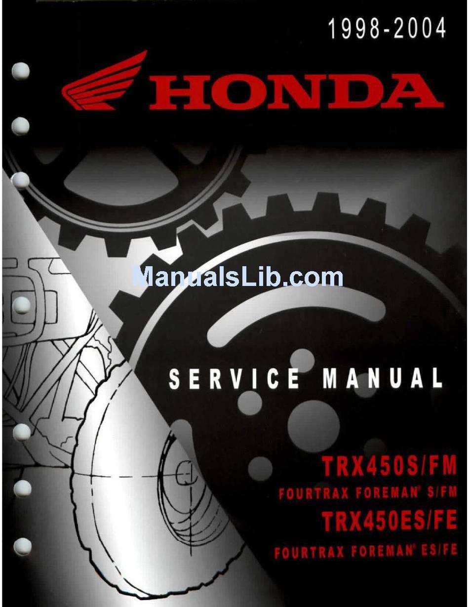 2001 Honda Foreman 450 Torque Specs