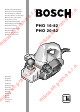 Bosch PHO 16-82 Operating Instructions Manual