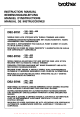 Brother DB2-B791 Instruction Manual