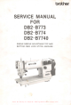 Brother DB2-B773-003 Service Manual