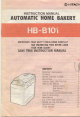 Hitachi HB-B101 Instruction Manual