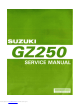 Suzuki GZ250 Marauder Service Manual