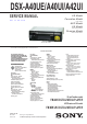 Sony DSX-A40UE Service Manual
