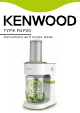 Kenwood FGP20 Instructions And Recipe Ideas