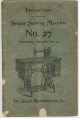 Singer 27 Instructions For Using Manual
