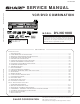 Sharp DV-NC100X Service Manual