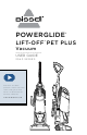 Bissell POWERGLIDE LIFT-OFF PET PLUS 2043 SERIES User Manual