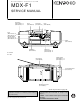 Kenwood MDX-F1 Service Manual