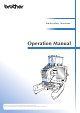 Brother 884-T20 Operation Manual
