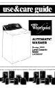 Whirlpool LA5300XP Use And Care Manual