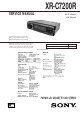Sony XR-C7200R Service Manual