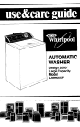 Whirlpool LA6400XP Use & Care Manual