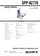 Sony SPP-A2770 Service Manual