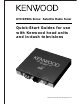 Kenwood Sirius KTC-SR901 Quick Start Manuals
