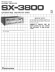 Pioneer SX-3800 Operating Instructions Manual