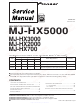 Pioneer MJ-HX5000 Service Manual