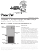 High Tech Pet Power Pet PX-1 Installation & Operating Instructions Manual
