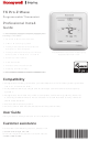 Honeywell T6 Pro Z-Wave Professional Install Manual