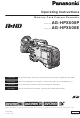 Panasonic AG-HPX500P Operating Instructions Manual