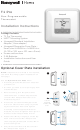 Honeywell T1 Pro Installation Instructions Manual