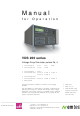 EM TEST VDS 200 Series Manual For Operation