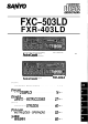 Sanyo FXC-503LD Operating Instructions Manual