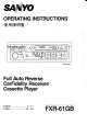 Sanyo FXR-61GB Operating Instructions Manual