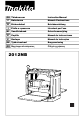 Makita 2012NB Instruction Manual