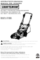 Craftsman 151.98834 Operator's Manual