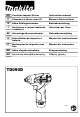 Makita TD090D Instruction Manual