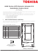 Toshiba 4400 Series Installation Instructions Manual