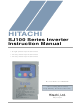 Hitachi SJ100 Series Instruction Manual