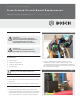 Bosch TRONIC 5000C Pro WH17 Technical Service Bulletin