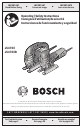 Bosch JS470E Operating/Safety Instructions Manual